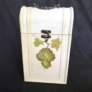 Other - Hand Painted Wine Box/Carrier Wood/ Fits 2 Bottles